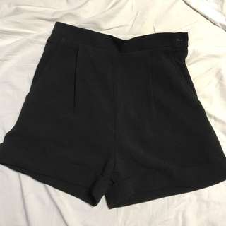 American apparel high waisted fabric shorts
