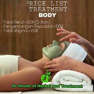 Treatment body
