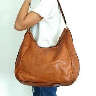 Authentic Prada hobo shoulder leather bag