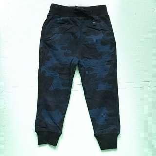 Blue army jogger