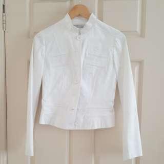 White military style jacket. Size 8