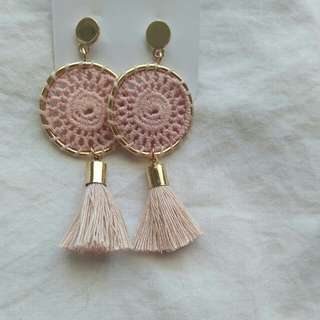 Boho tassle drop earrings