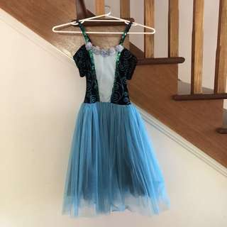 Blue romantic tutu ballet costume