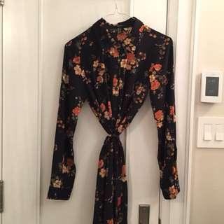 Forever 21 Black Floral Dress