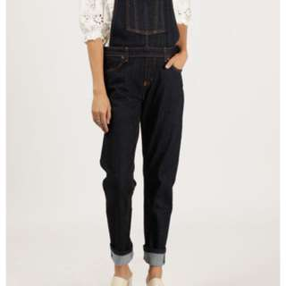 Naked and Famous Indigo Overalls