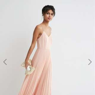 ASOS Peach/Blush Pink Pleated Maxi Dress - Size 2