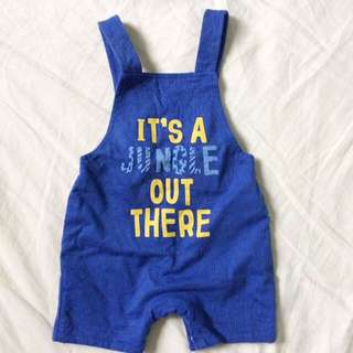 Mothercare Cotton Dungaree Overall Newborn