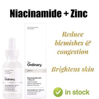 The Ordinary Skin Care Niacinamide plus Zinc