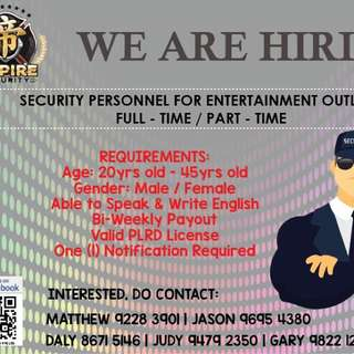 Entertainment Security (Full - Time)