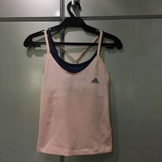 Adidas 2 pc Stretch Top in Blush Pink