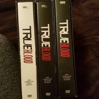 True Blood DVD season 1, 2 & 4