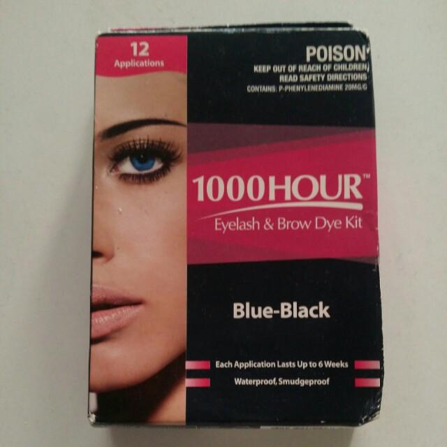 1000 Hour Eyelash and Brow Dye Kit Blue Black