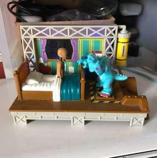 Vintage Monsters Inc Playset