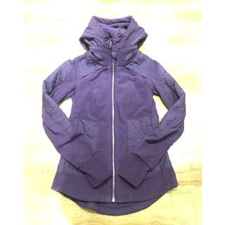 Lululemon Royal Purple Fleece Jacket with Removable Lining - Size S