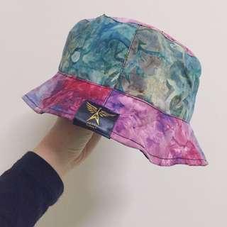 美國蠟染雙面戴漁夫帽