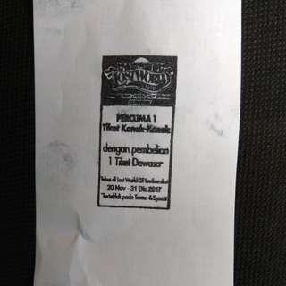 FRRE Lostworld Tambun Child Ticket