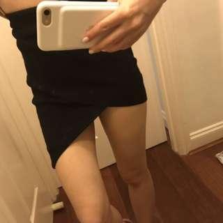 Asymmetrical Skirt Black
