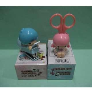 7-Eleven 7-11 台灣Sanrio 聖誕卡 聖誕禮物 上班趣 Little Twin Stars[ 1 對文具公仔]