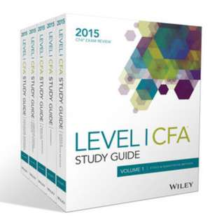 2015 edition CFA Level 1 Study Guide up for GRAB!