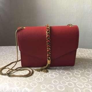 Charles & Keith Red Sling Bag