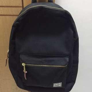 Authentic Black Herschel Settlement Backpack/ School bag/ Haversack