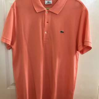 Original Mens Lacoste Pique Tshirt size 5 (slightly used)