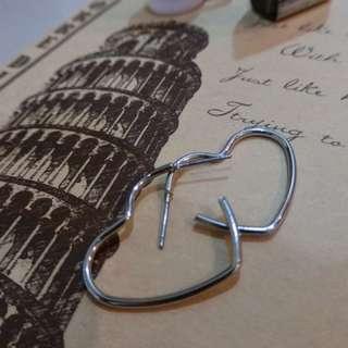 現貨🔥愛心裸空耳環
