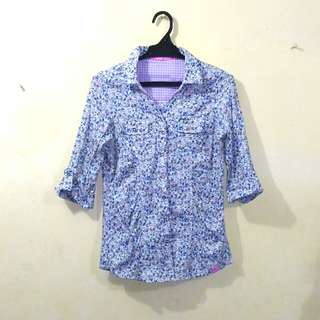 Lee floral polo blouse