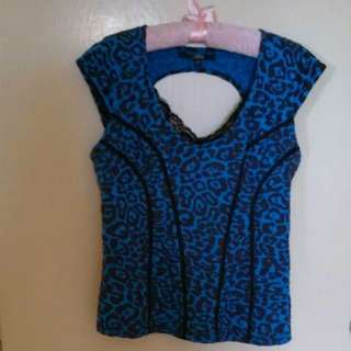 Guess Blue Top