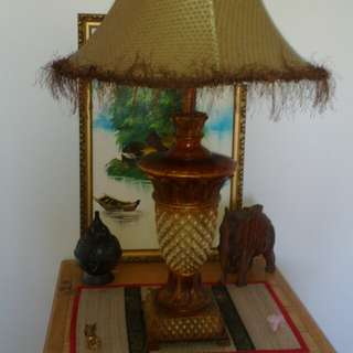 Beautifully crafted timber lamp