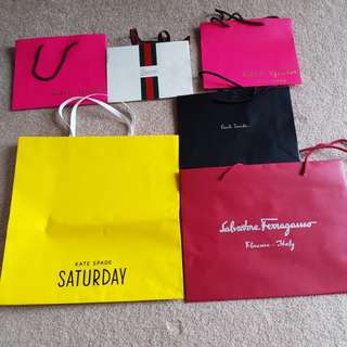 Assortment of Branded Paper Bags
