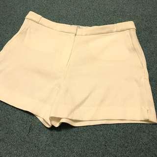 👖MANGO 白色棉質OL休閒短褲 EUR40
