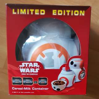 Star Wars BB8/BB-8 Cereal-milk container (limited edition)