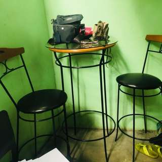Bar chairs and table