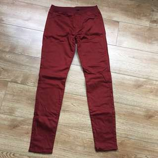 Uniqlo legging pants (Maroon)
