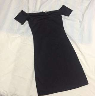 H&M Black Plunging Bodycon