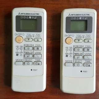 Aircon Remote Control Mitsubishi Electric