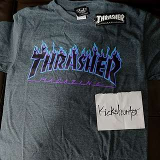 Authentic Thrasher blue flame t shirt
