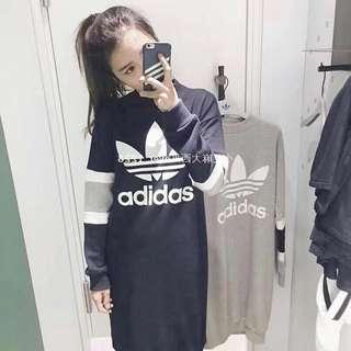 Adidas 長版大學T🔥