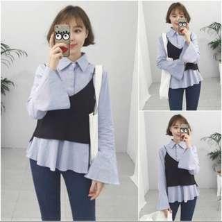 Korean blouse 2 pieces