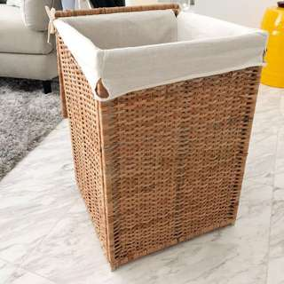 IKEA Branäs Laundry Basket - 80litres with lining