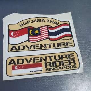 SinMalThai dakar theme Adventure rider Singapore stickers