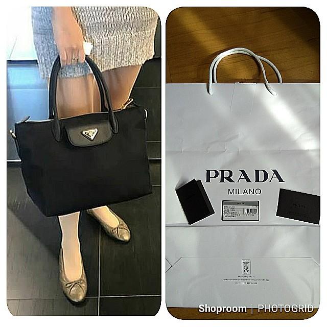 ... discount bn prada 1ba106 tessuto nylon saffiano leather bag with  detachable strap retail price 1830 luxury ... 9f66dfb898