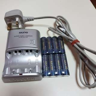 SANYO rechargeable battery and charger