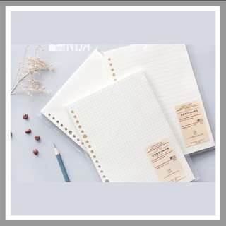 (PO) B5/A5 LOOSE LEAF GRID/LINED