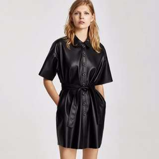Leather button-down coat/dress