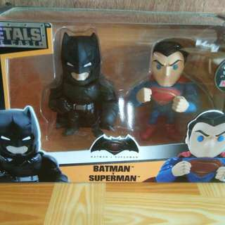 metals die cast super man and batman