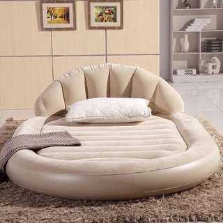 Suede Inflatable Air Bed