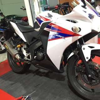 Cbr150r beautiful white scheme