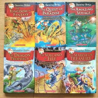 Geronimo Stilton Kingdom of Fantasy series 6 books
